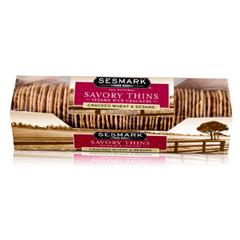 BFG18741 - Sesmark FoodsSavory Cracked Wheat & Sesame Rice Thins Crackers