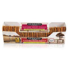 BFG18742 - Sesmark FoodsSavory Toasted Onion & Garlic Rice Thins Crackers