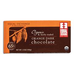 BFG20041 - Equal ExchangeDark Chocolate With Orange Bar (65% Cacao)