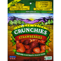 BFG16926 - Crunchies Food CompanyFreeze-Dried Strawberry Fruit Crunchies