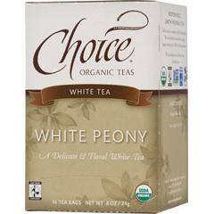BFG28137 - Choice Organic TeasFair Trade White Peony Tea