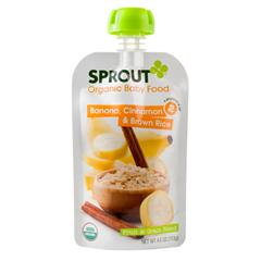 BFG29160 - Sprout Baby Foods - Banana Cinnamon & Brown Rice