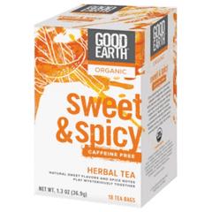 BFG32552 - Good EarthHerbal, Sweet & Spicy, Caffeine-free Tea