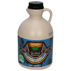 BFG32802 - SpringTreeOrganic Grade A Maple Syrup, Dark Amber for Cooking, 32 oz. Jug