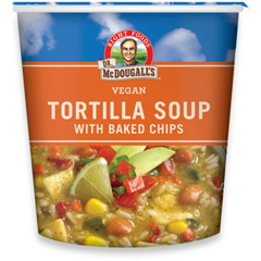 BFG39607 - Dr. McDougall'sTortilla Soup with Baked Chips Big Cup Gluten Free