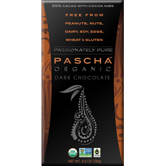 BFG45939 - PaschaPassionately Pure-Organic Dark Chocolate w/Cacao Nibs, Fair Trade