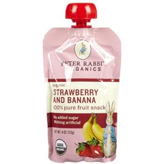 BFG51768 - Peter Rabbit OrganicsStrawberry & Banana Fruit Snack Pouch