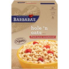BFG52734 - Barbara's BakeryHole n Oats Cereal - Fruit Juice Sweetened