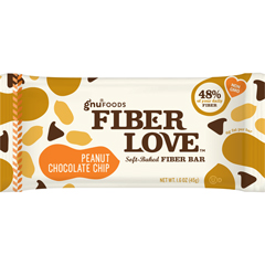 BFG54245 - Gnu FoodsFiberLove Peanut Chocolate Chip Bars