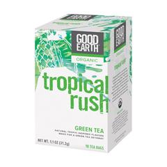 BFG79280 - Good EarthTropical Rush Organic Green Tea with Mango, Peach, & Pineapple