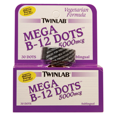 BFG80620 - TwinlabMega B12 Dots, 5000 mcg