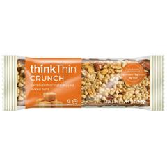 BFG85270 - thinkThinCaramel Chocolate Dipped Mixed Nuts Crunch Bar