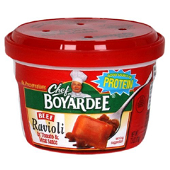 BFVAHF04709 - Conagra Foods - Chef Boyardee Beef Ravioli Microwave Meal