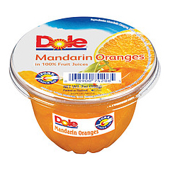 BFVDOL74206011 - Dole FoodsFruit Bowls - Mandarin Oranges