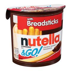 BFVFEU80314-BX - Ferrero USA - Nutella & Go! Hazelnut Spread + Breadsticks