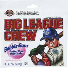 BFVFGM66000 - Big League Chew - Bubblegum Pouches, Original
