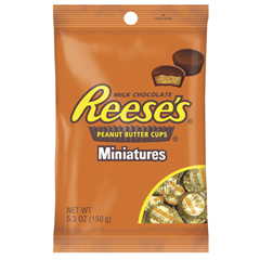 BFVHEC44600 - Hershey FoodsReeses Peanut Butter Cup Minis Peg Pack