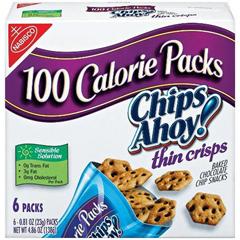 BFVNFG00937 - NabiscoChips Ahoy Thin Crisp 100 Calorie Packs