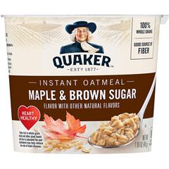 BFVQUA31971 - Quaker Oats - Express Oatmeal, Maple Brown Sugar, 24/CS