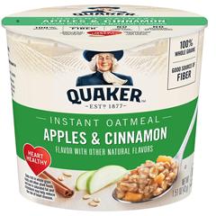 BFVQUA31973 - Quaker Oats - Express Oatmeal, Apple Cinnamon, 24/CS