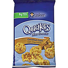 BFVQUA43381 - Quaker OatsMini Caramel Rice Cakes