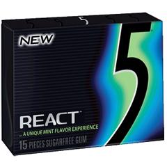 BFVWMW23114-BX - Wrigley's5 Gum React Mint Slim Pack