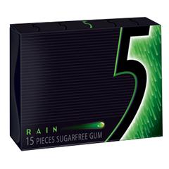 BFVWMW51404-BX - Wrigley's - 5 Gum Rain Slim Pack