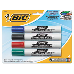 BICDECP41ASST - BIC® Great Erase® Bold Dry Erase Marker
