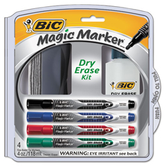 BICDEPKITP61 - BIC® Magic Marker® Brand Low Odor AND Bold Writing Dry Erase Marker Kit