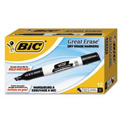 BICGDEM11BK - BIC® Great Erase® Chisel Dry Erase Marker