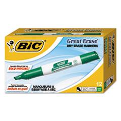 BICGDEM11GN - BIC® Great Erase® Chisel Dry Erase Marker