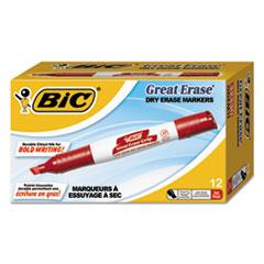BICGDEM11RD - BIC® Great Erase® Chisel Dry Erase Marker
