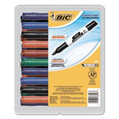 BICGDEM30ASST - BIC® Great Erase® Chisel Dry Erase Marker