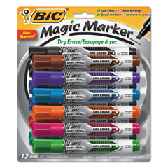 BICGELITP121AST - BIC® Magic Marker® Brand Low Odor AND Bold Writing Dry Erase Marker