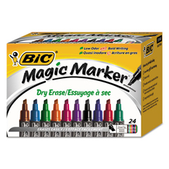 BICGELITP241AST - BIC® Magic Marker® Brand Low Odor AND Bold Writing Dry Erase Marker