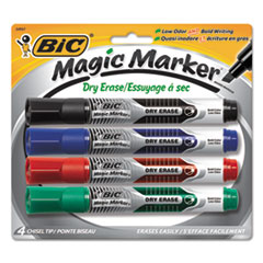 BICGELITP41AST - BIC® Magic Marker® Brand Low Odor  Bold Writing Dry Erase Markers
