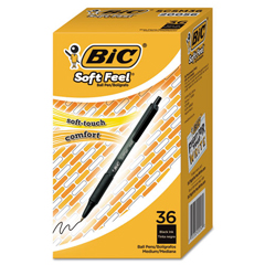 BICSCSM361BK - BIC® Soft Feel® Retractable Ballpoint Pen