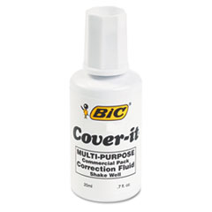 BICWOC12WE - BIC® Cover-It® Correction Fluid Commercial