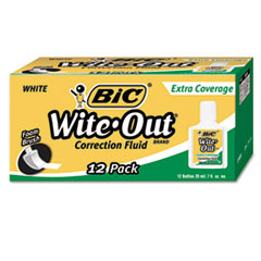 BICWOFEC12WE - BIC® Wite-Out® Brand Extra Coverage Correction Fluid
