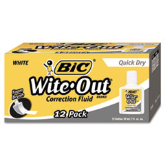 BICWOFQD12WE - BIC® Wite-Out® Brand Quick Dry Correction Fluid