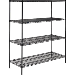 NEX18607B - Nexel IndustriesBlack Epoxy Finish Shelving Starter Unit