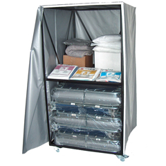 BLACRT-XH3 - Blantex - Cart with 10 XH-3IV Special Needs Beds