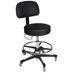 BLI1041212025 - Blickman Industries - Deluxe Hand Operated Exam Stool w/ backrest
