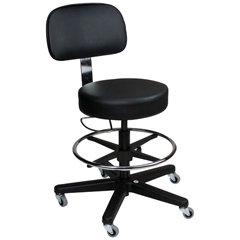 BLI1041212125 - Blickman Industries - Deluxe Hand Operated Exam Stool w/ backrest