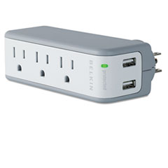 BLKBZ103050QTVL - Belkin® Mini Surge Protector with USB Charger