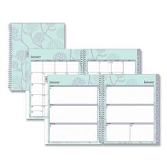 BLS101602 - Rue Du Flore Weekly/Monthly Wirebound Planner, 11 x 8.5, Green/Lavender, 2021