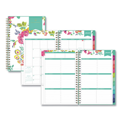 BLS103619 - Day Designer CYO Weekly/Monthly Planner, 8 x 5, White/Floral, 2020