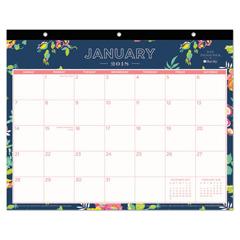 BLS103630 - Day Designer Tablet Calendar, 11 x 8 3/4, Navy Floral, 2019