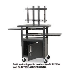 BLT27532 - BALT® Two-Shelf Height Adjustable Flat Panel TV Cart