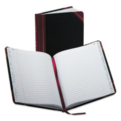 BOR38150R - Boorum  Pease® Record and Account Book with Black and Red Cover